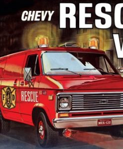 CHEVY RESCUE VAN RED 1:25 (AMT851)